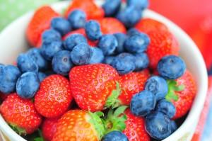 Strawberries-Blueberries to reducing blood pressure